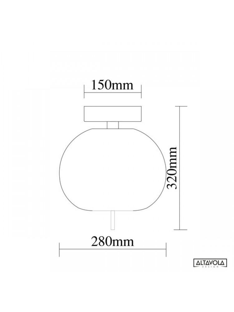 Lubinis šviestuvas  Apple CE