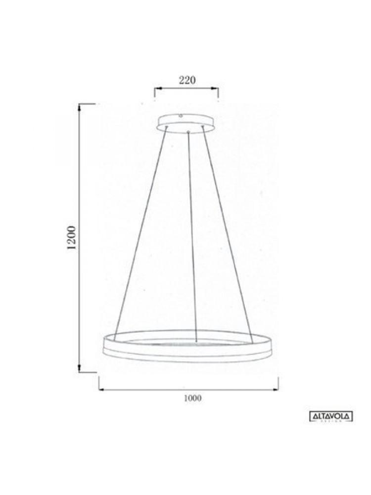 Pakabinamas šviestuvas Billions No.1  diametras 100cm 3000K