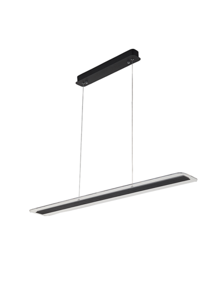 Pakabinamas šviestuvas  Led Acrilico 100cm, juodos spalvos