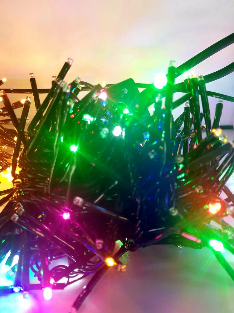 280 LED DIODŲ GIRLIANDA ypač ryški  (RGB, įvairių spalvų)