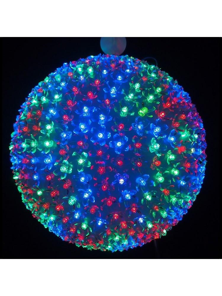 150 LED kamuolys 20cm diametro,, įvairių spalvų