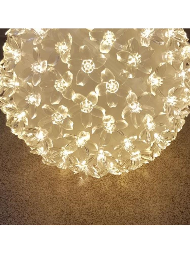 50 LED kamuolys 10cm diametro , (šiltai balta)