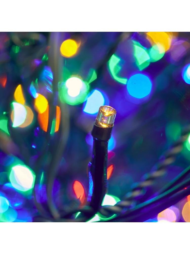 300 LED DIODŲ GIRLIANDA  (RGB įvairių spalvų), lauko sąlygoms