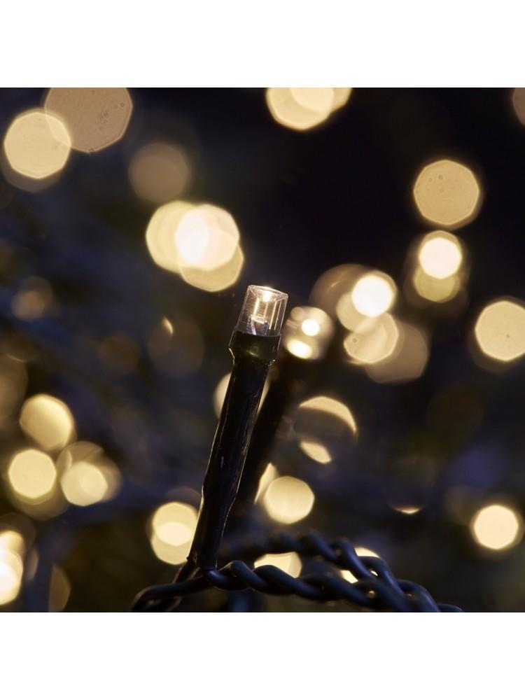160 LED DIODŲ GIRLIANDA  (šaltaii balta), lauko sąlygoms