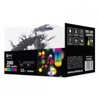LED girlianda, 230Vac, 10m, 200 x LED, spalvota RGBY