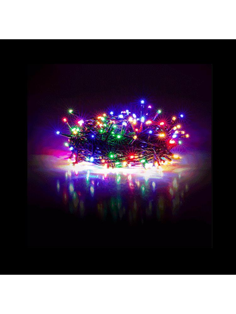 100 LED DIODŲ GIRLIANDA  (RGB, įvairių spalvų)