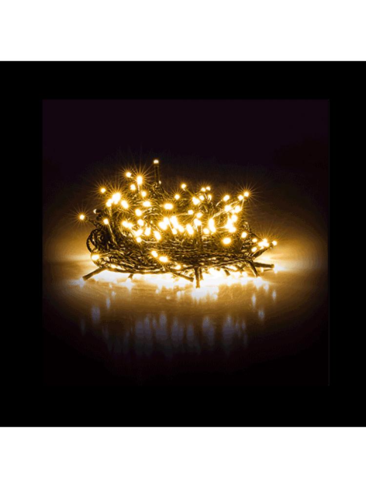 100 LED DIODŲ GIRLIANDA  (šiltai balta)