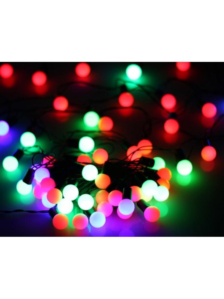 50 LED DIODŲ GIRLIANDA BURBULIUKAI  (RGB, įvairių spalvų)