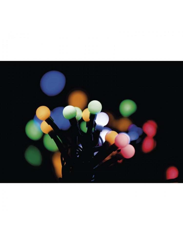 LED girlianda, 230Vac, 10m, 96 x LED, spalvota RGB, su valdymo pulteliu, EMOS