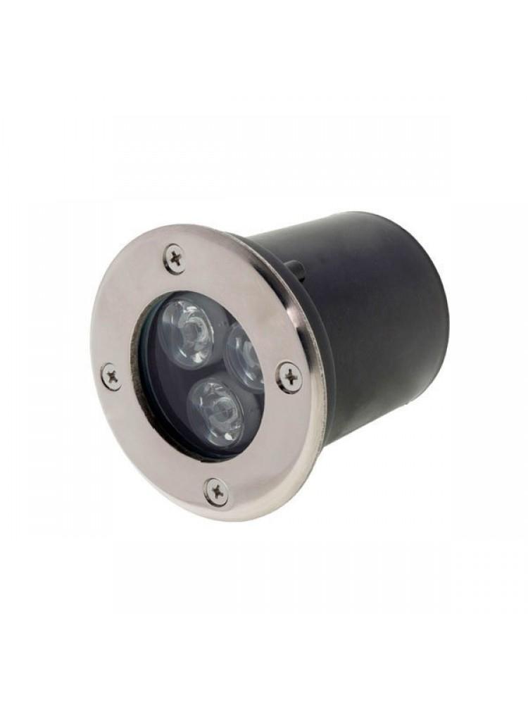 LED grindinis lauko šviestuvas 3W RGB  / 220V LED, įmontuojamas  IP65