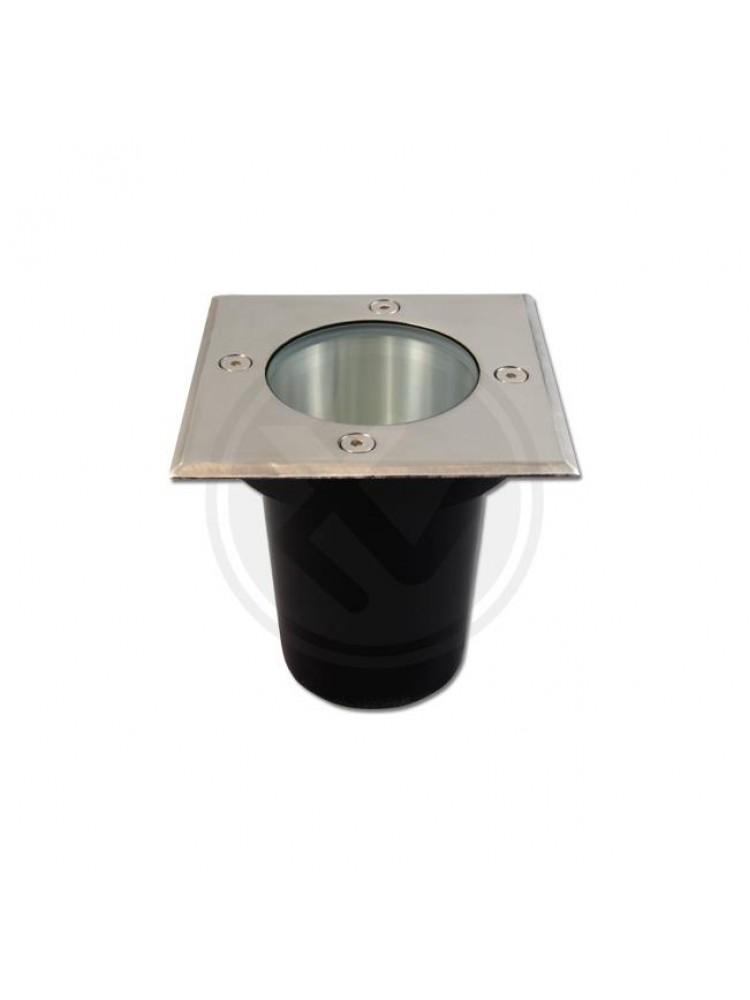 LED grindinis lauko šviestuvas GU10  kvadratinis 108mm x 108mm