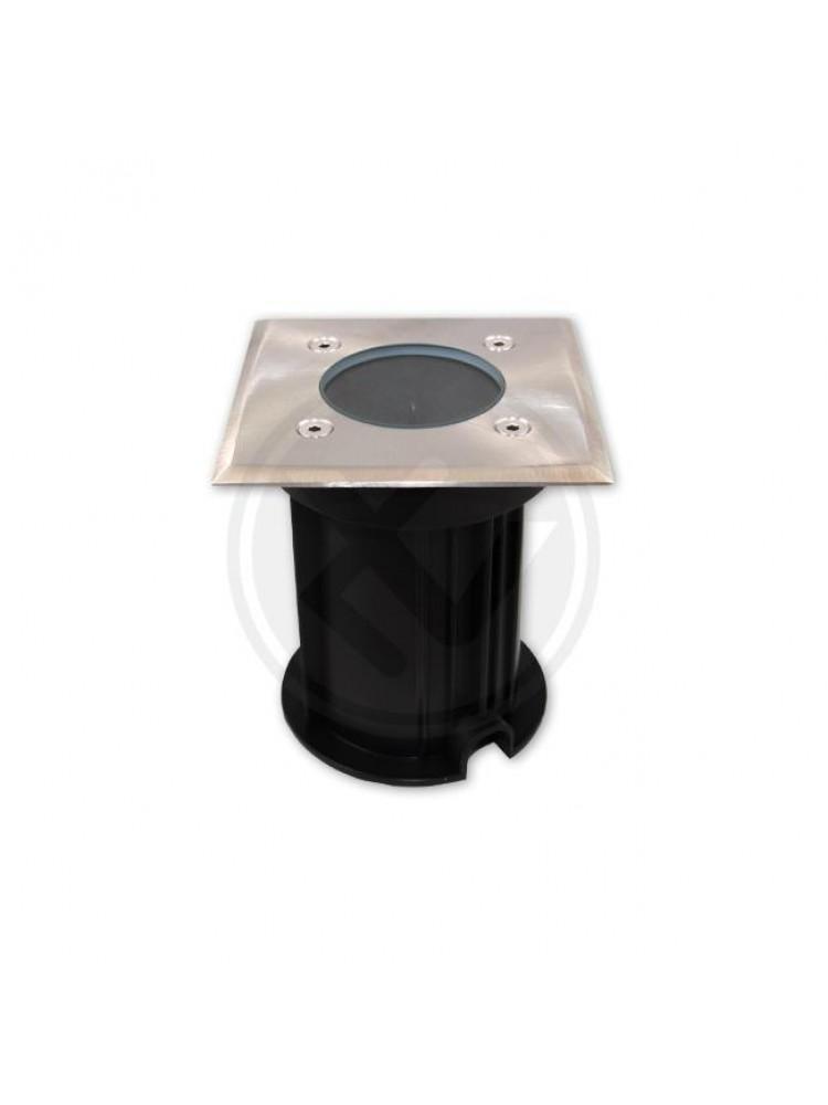 LED grindinis lauko šviestuvas GU10  kvadratinis 100mm x 100mm