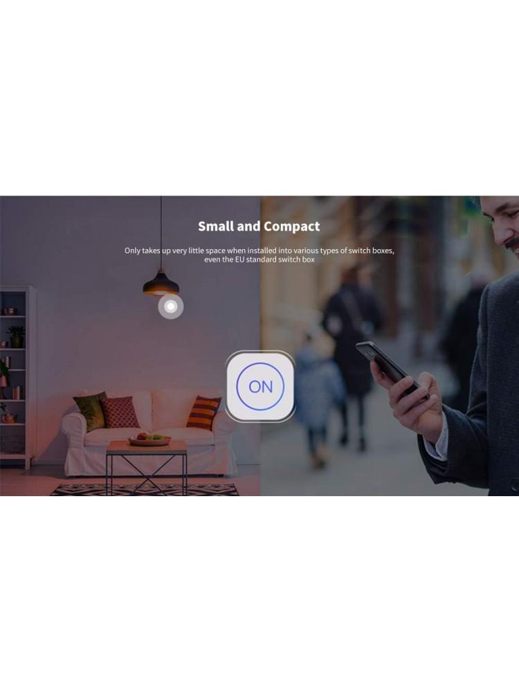SONOFF MINI, 2200W, 230VAC išmanusis jungiklis, valdomas programėle, Wi-Fi, galimybė valdyti balsu, DIY režimas