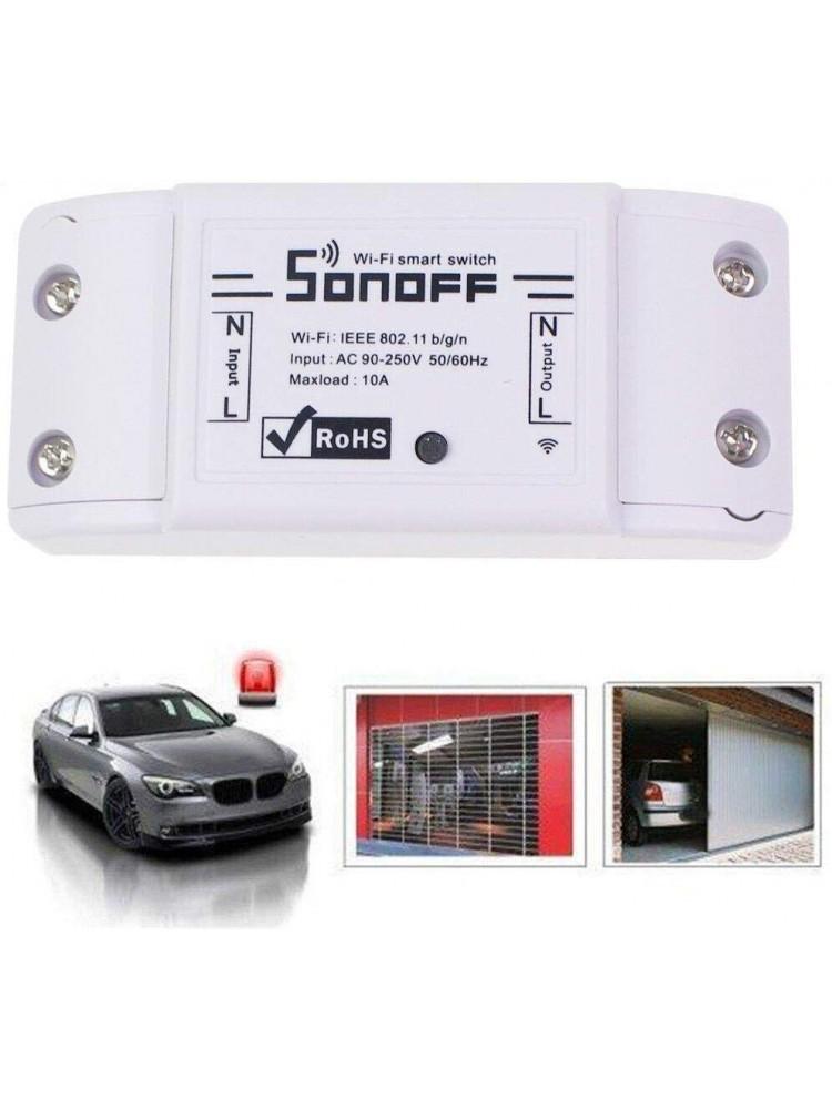SONOFF BASIC R2, 2200W, 230VAC,išmanusis jungiklis, valdomas programėle, Wi-Fi, galimybė valdyti balsu