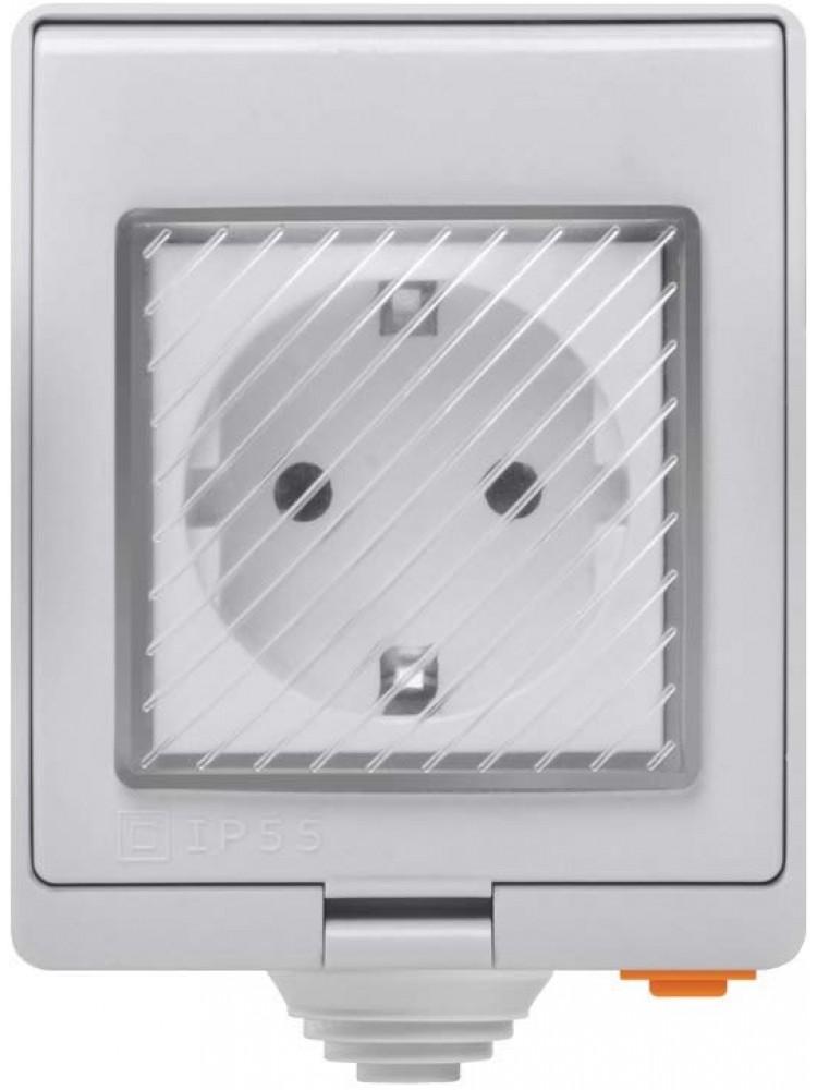 SONOFF S55, 3500W, 230VAC, IP55 išmanusis elektros lizdas, valdomas programėle, Wi-Fi, galimybė valdyti balsu