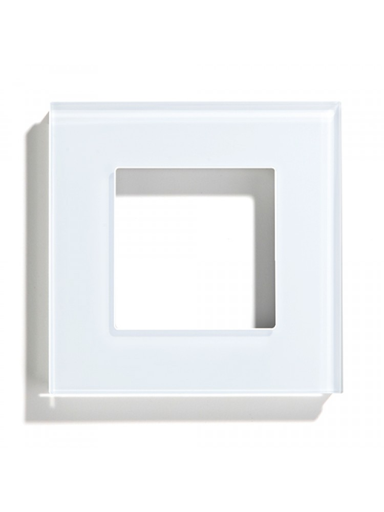 Vienvietis stiklo rėmelis (baltas)