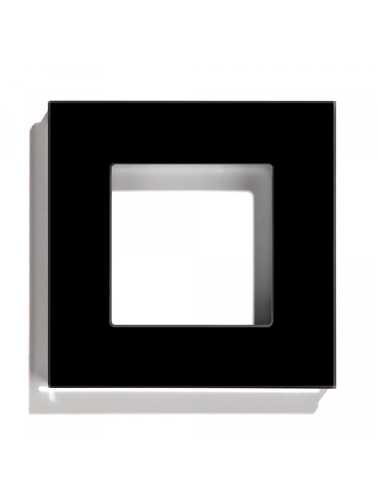 Vienvietis stiklo rėmelis (juodas)