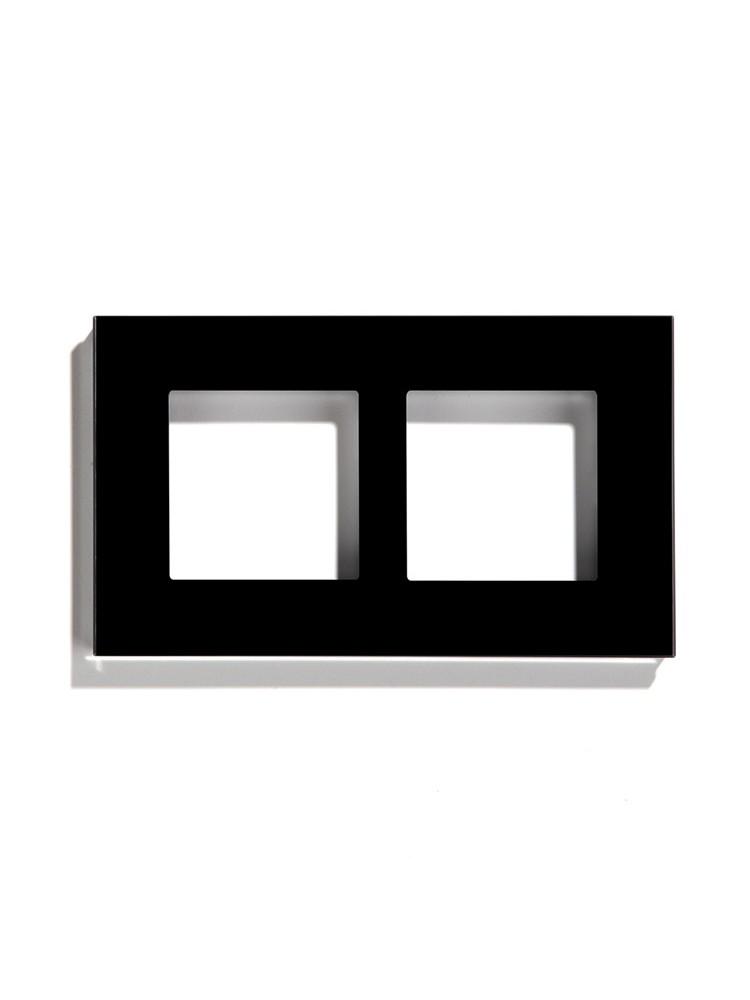 Dvivietis stiklo rėmelis (juodas)