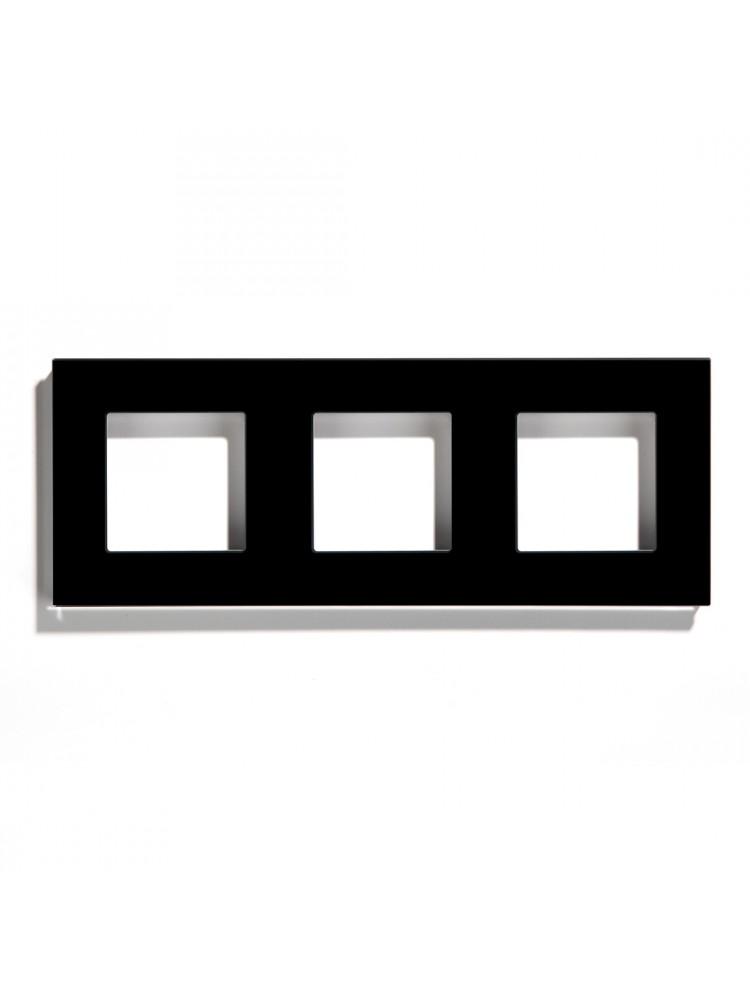 Trivietis stiklo rėmelis (juodas)