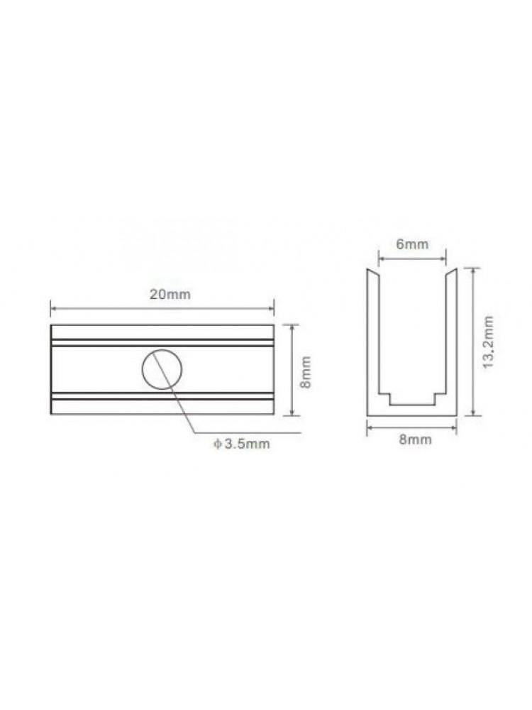 LED NEON FLEX tvirtinimo elementas (komplekte 6vnt.)