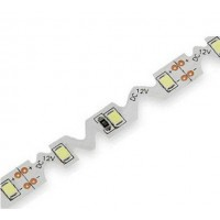 LED 12V 7.2W/m nehermetiška šaltai balta S formos