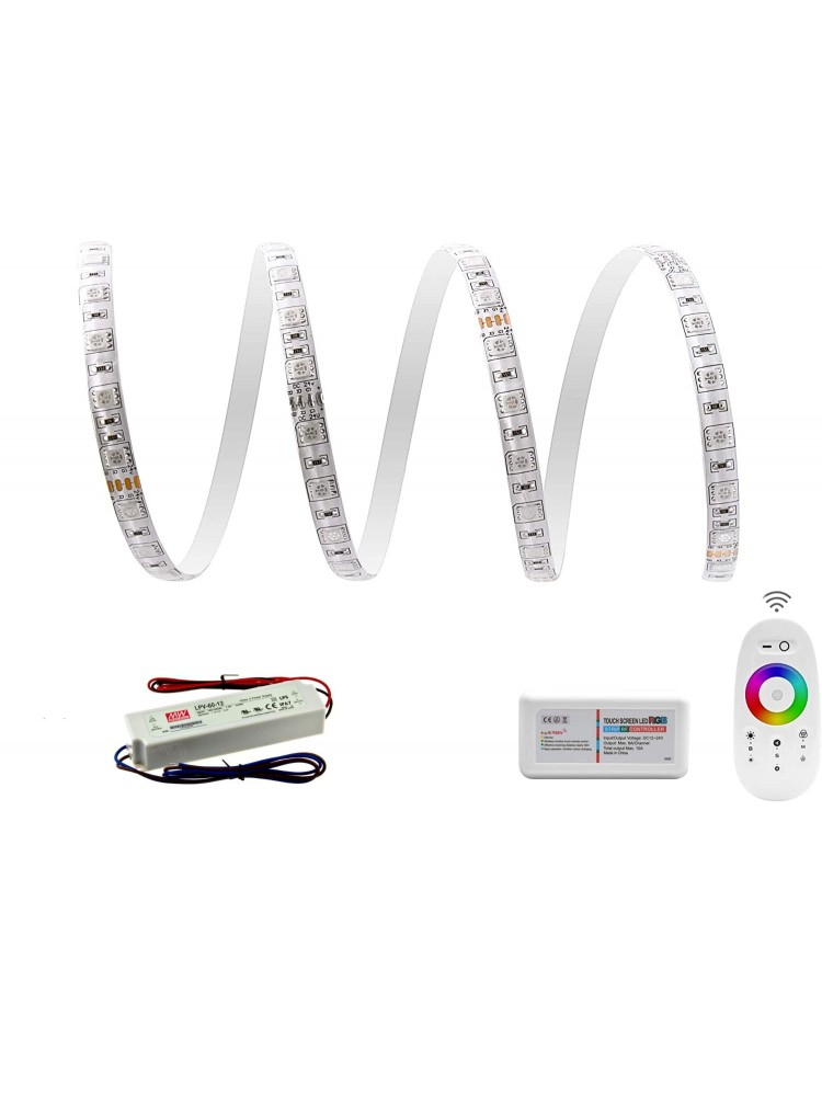 LED juosta RGB  3m PRO + valdiklis + maitinimo šaltinis