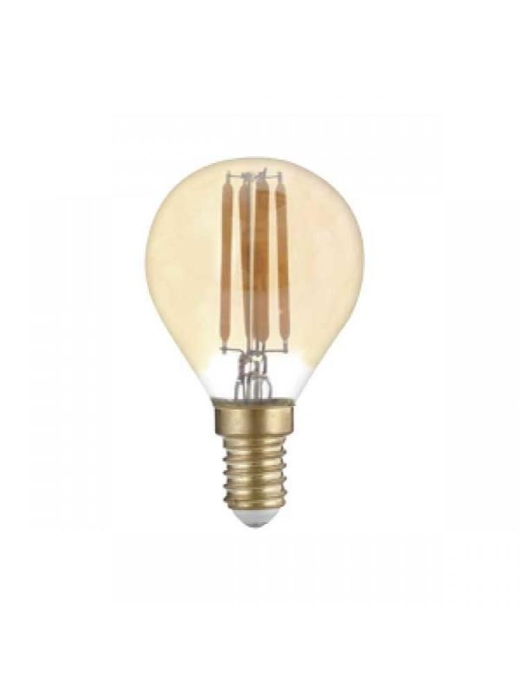 LED lemputė 4W su gintariniu paviršiumi GOLDEN GLASS  E14 G452500K (šilta šviesa) Filament