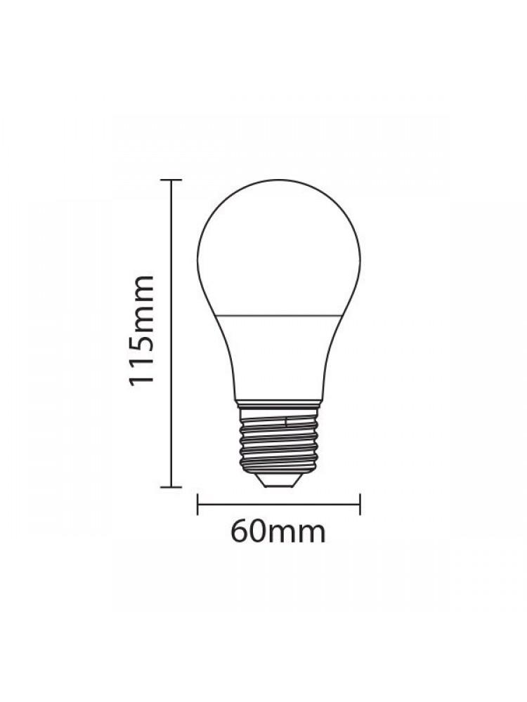LED lemputė 10W E27 4500K (dienos šviesa)