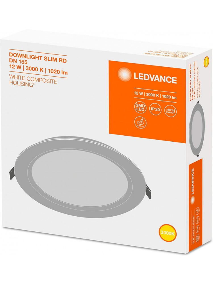 LED panelė Ledvance 12W 3000K Downlight SLIM