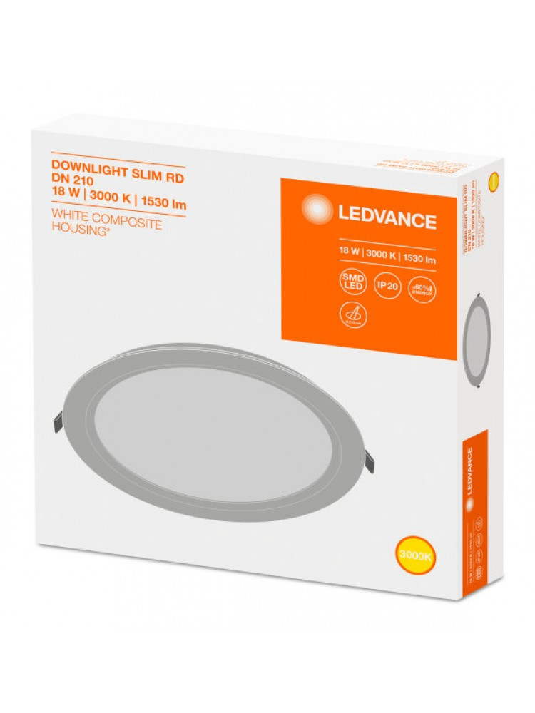 LED panelė Ledvance 18W 3000K Downlight SLIM