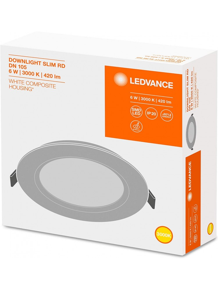 LED panelė Ledvance 6W 3000K Downlight SLIM