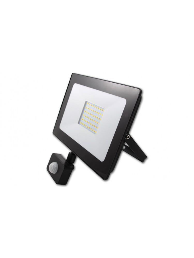 Lauko prožektorius LED SMD VEGA 50W  su judesio davikliu