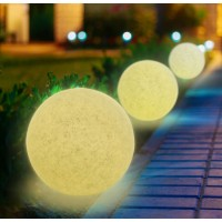 LED sodo šviestuvas  230V diametras 35cm, akmens imitacija