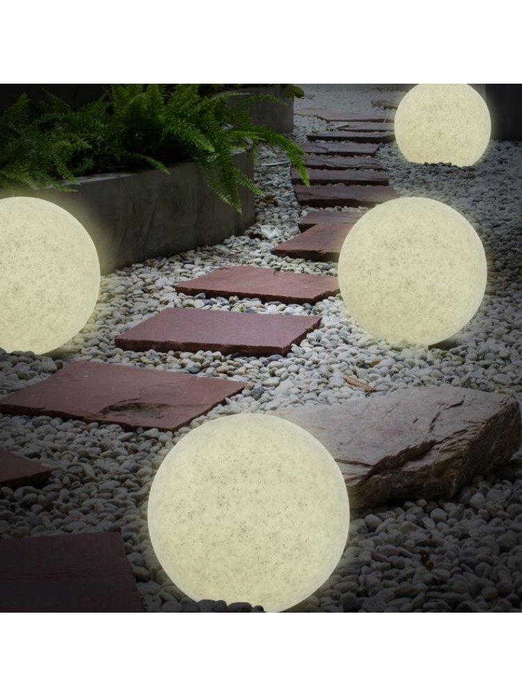 LED sodo šviestuvas  230V diametras 30cm, akmens imitacija