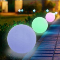 LED sodo šviestuvas  RGB 30cm su saulės pakraunama baterija + nuotolinis valdymo pultelis