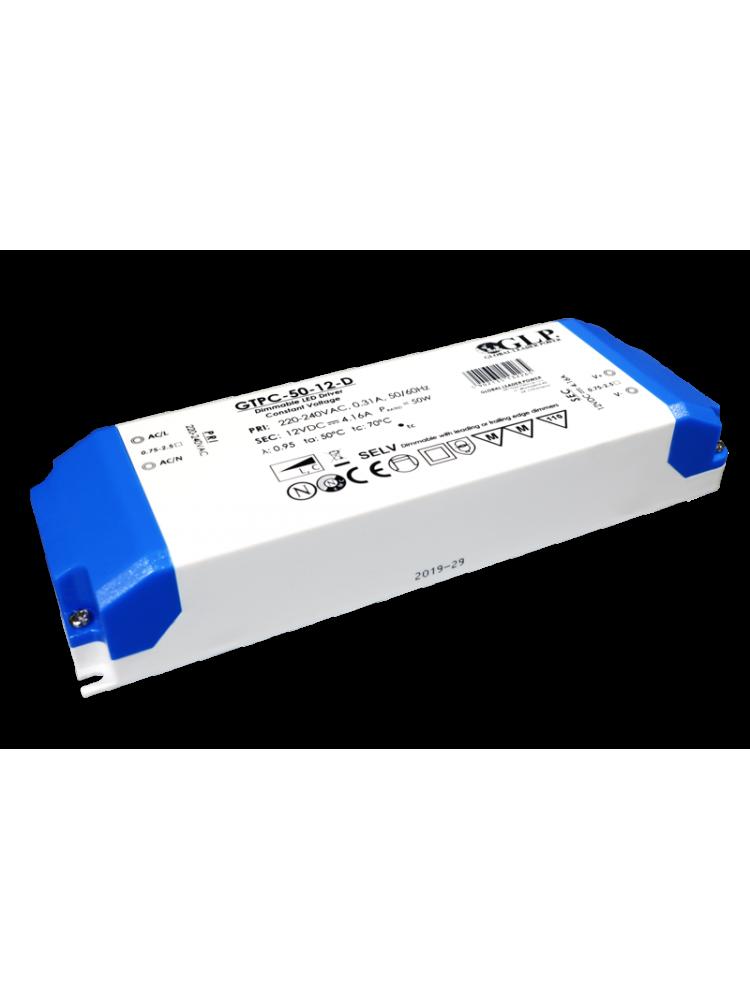12V 4.16A 50W dimeriuojamas TRIAC maitinimo šaltinis GTPC-50-D-12