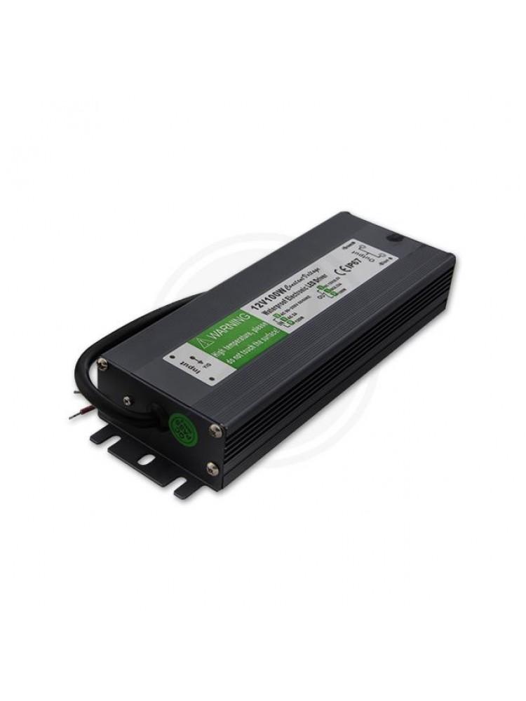 100W LED maitinimo šaltinis  12V, 8,33A , IP67