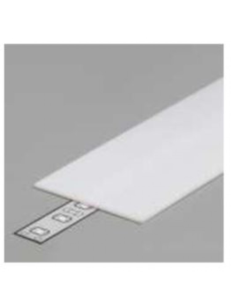 LED juostos profilio dangtelis A9, baltas