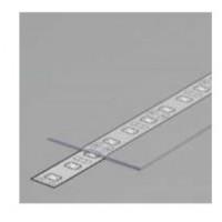 LED juostos profilio dangtelis A9, skaidrus