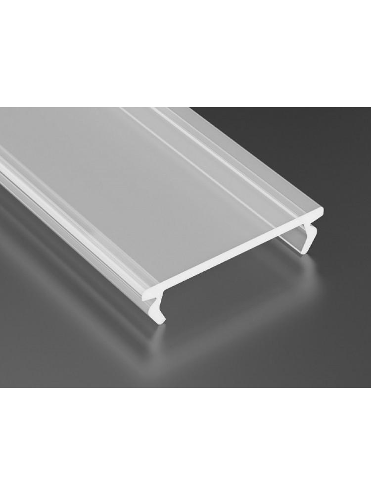 LED juostos profilio dangtelis PMMA matinis, profiliams ZATI, 2m