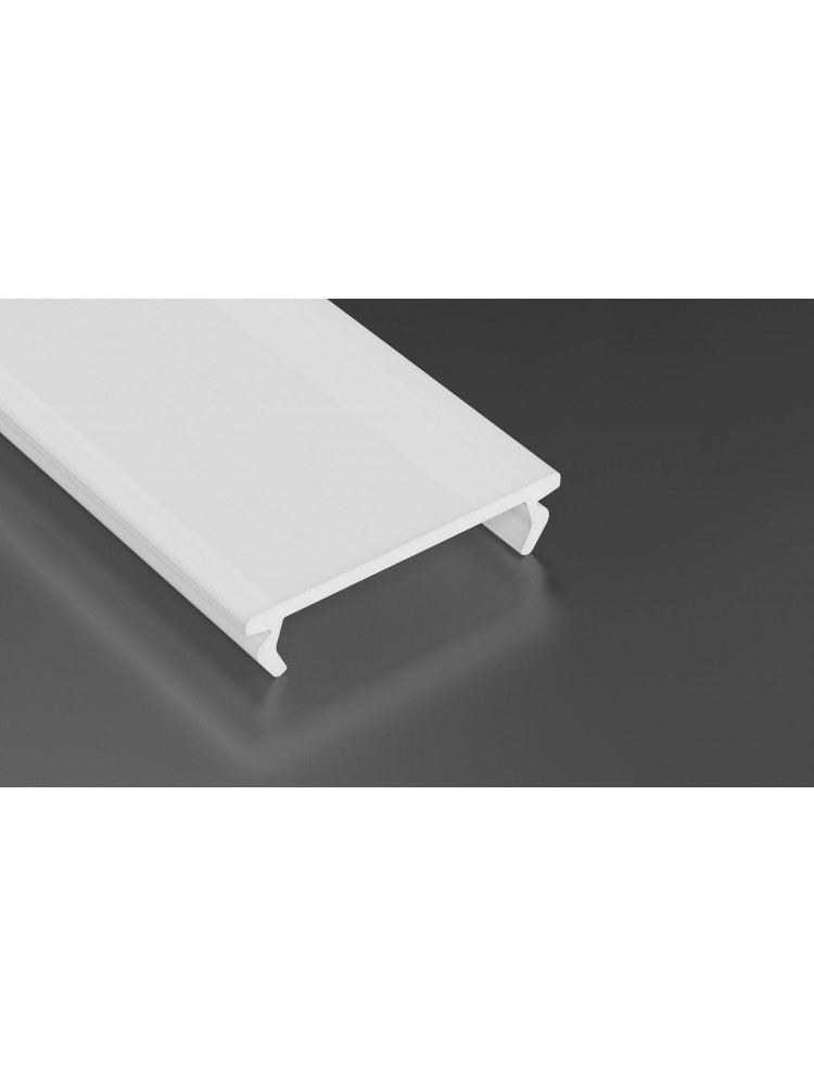 LED juostos profilio dangtelis PMMA baltas, profiliams ZATI, 2m