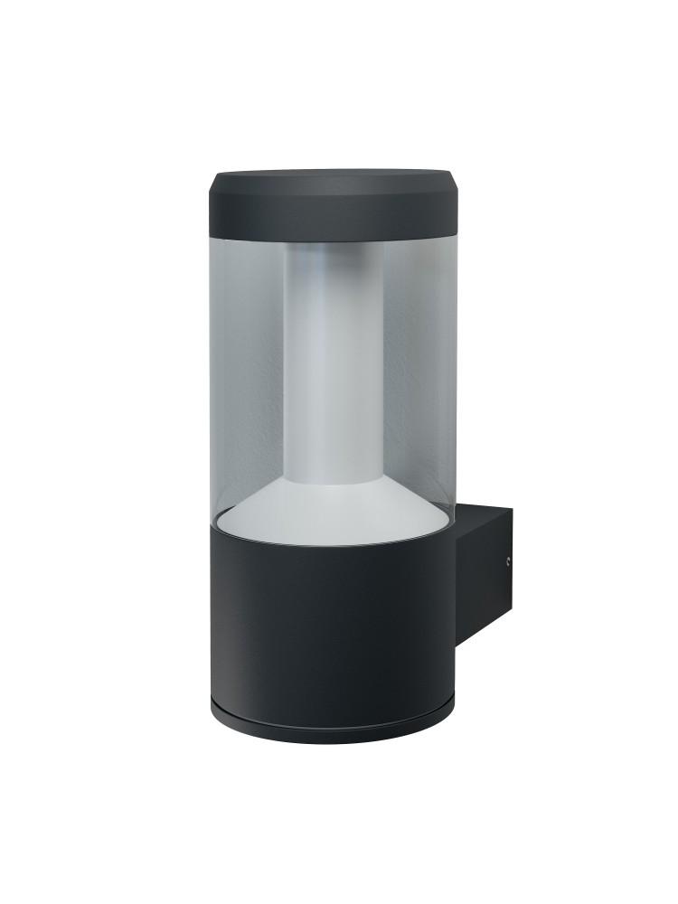 Fasado šviestuvas Lantern 12W/3000K GY IP54 tamsiai pilkas
