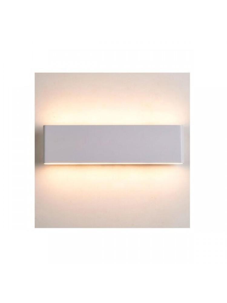 Sieninis lauko šviestuvas 8W IP54, pilkai baltas korpusas