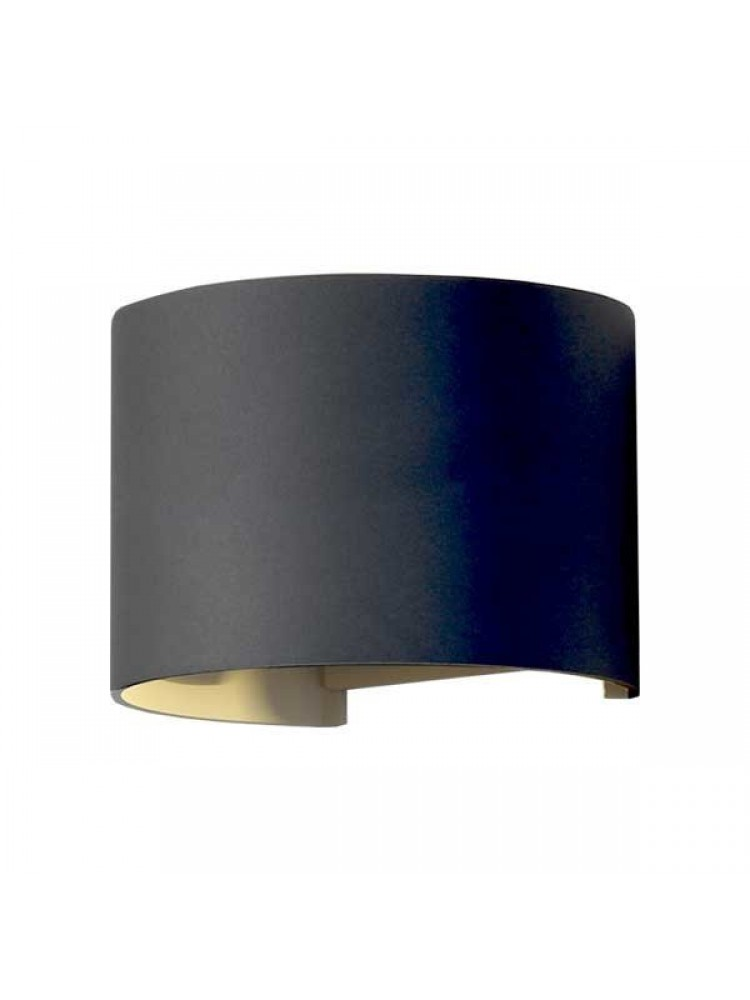 Sieninis lauko šviestuvas IP54, apvalus, juodu korpusu