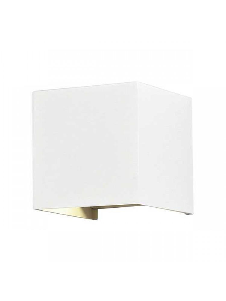Sieninis lauko šviestuvas IP54, kvadratinis, baltu korpusu