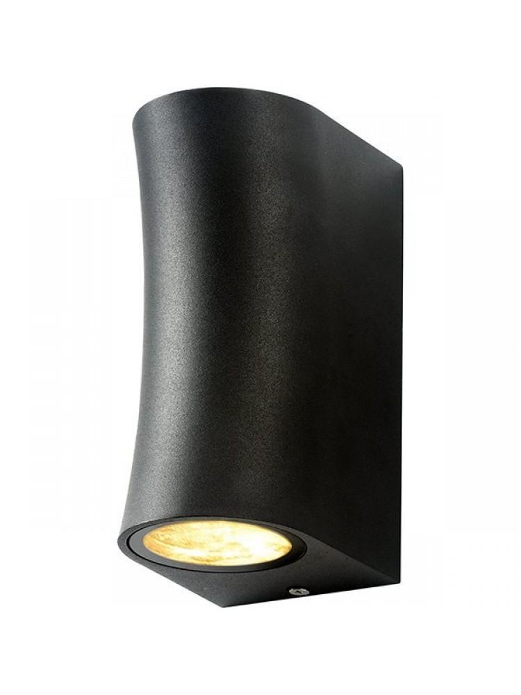 Sieninis lauko šviestuvas 2xGU10 juodu korpusu