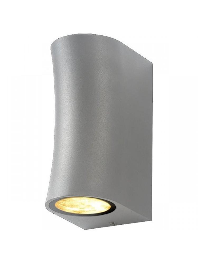 Sieninis lauko šviestuvas 2xGU10 pilku korpusu