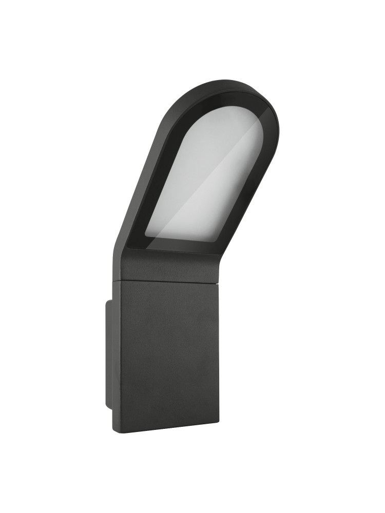 Fasado šviestuvas Edge 12W/3000K GY IP54 tamsiai pilkas