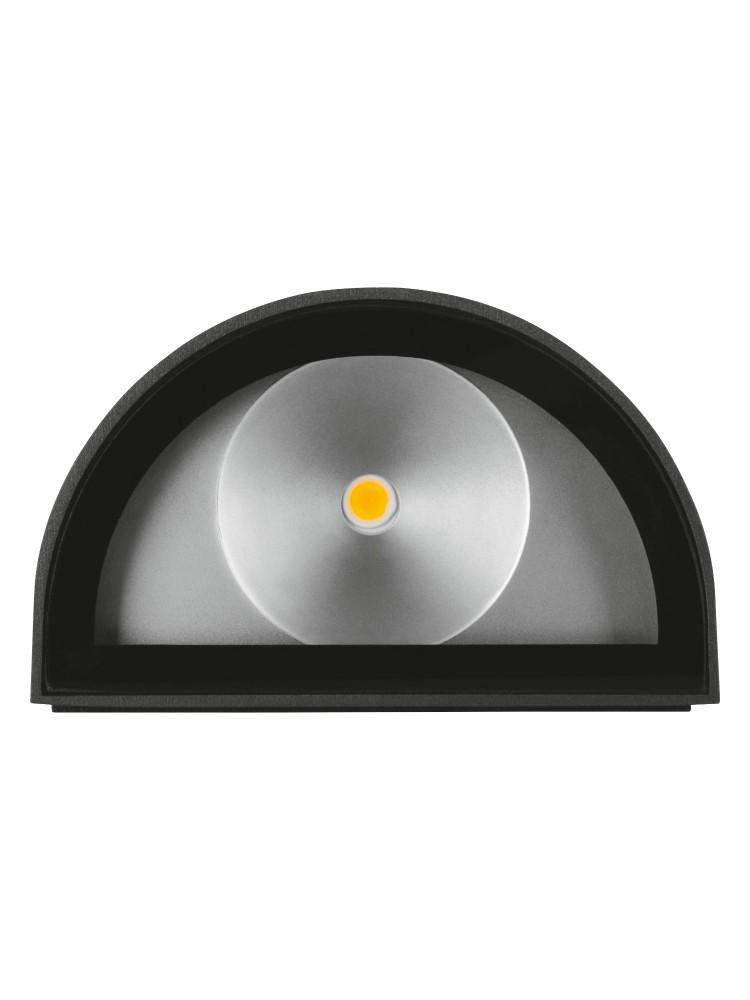 Fasado šviestuvas UpDown 12W/3000K GY  tamsiai pilkas