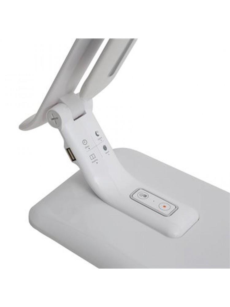 PDL70 stalinė lempa 12W+6W , USB, balta